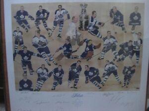 """RELIVE THE GLORY"" Toronto Maple Leaf limited edition print Kawartha Lakes Peterborough Area image 1"