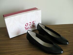 Black leather pumps, size 7.5-8 M
