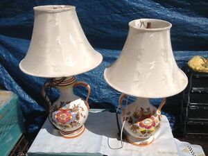 PAIR OF MATCHING ELECTRIC LAMPS & SOME SINGLE  LAMPS