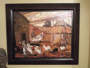 tableau D'apres une peinture de Paul Tex Lecor