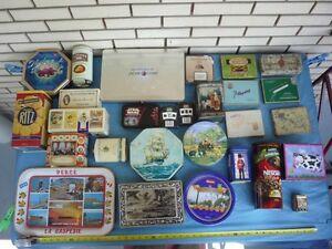 collection 27 boite de métal tin 1920 et + Molson tea Gaspésie
