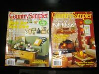 10 COUNTRY SAMPLER MAGAZINES - 2011 AND 2012