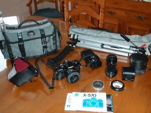 Appareil photo Minolta X-570, objectifs et autres