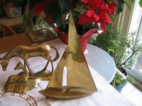 SOLID BRASS SAIL BOAT