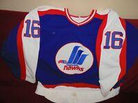 1987-1988 #16 Randy Gilhen AHL Moncton Hawks Game Worn Jer sey