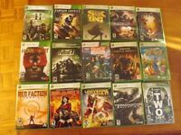 XBOX 360 (see list of 15 games) - Used & New