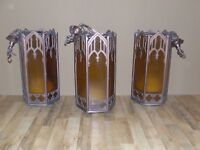 Set of four gothic style hanging church lights