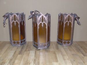 Set of four gothic style hanging church lights Saint John New Brunswick image 1