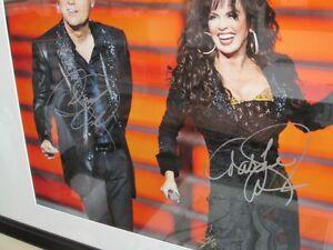 Donny Osmond & Marie Osmond autographed 16 x 20 photo - framed