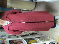 NEW, Ladies Deep Dark Red Trench Coat