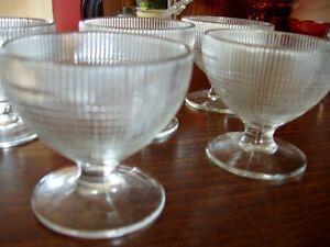 Depression Glass sherbet dishes