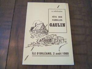FÊTE DES FAMILLES GAULIN, ÎLE D'ORLÉANS, 2 AOÛT 1980