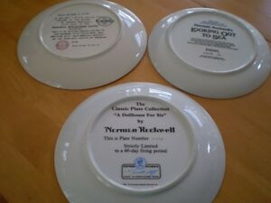 NORMAN ROCKWELL COLLECTOR PLATES MUGS AND GLASSES Windsor Region Ontario image 2