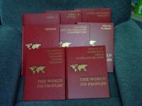 SET OF BOOKS THE WORLD AND ITS PEOPLE