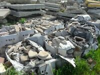 CLEARANCE Miscellaneous Manufactured Stone pieces $1.50 each