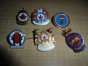 6 Different Royal Canadian Legion Collector Pins