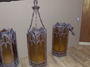 Set of four gothic style hanging church lights Saint John New Brunswick image 7