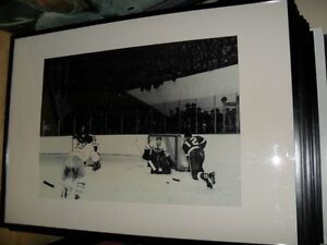 ORIGINAL Photo Leafs 30s 40's Framed Print + Jays Bobblehead