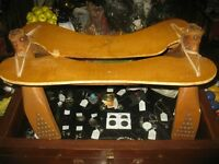 Vintage Egyptian Camel Saddle Foot Stool Studded Wood & Leather