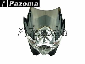 GSXR BANDIT 400 SV 1000S SV650S Fairing Street Fighter Stunt headlight GS Black