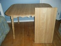 solid birch table with leaf
