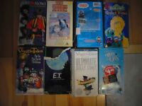 Selected Children's Tapes on VHS