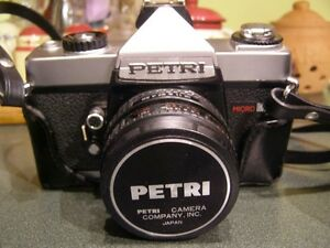 Vintage Petri 35mm Camera with 2 Lens