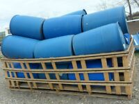 Barrels Barrels -45 / 50 Gallon Plastic Blue Barrels $18.00 each