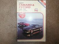 Camaro Z/28 & Pontiac Firebird 1982-1987 Shop Manual