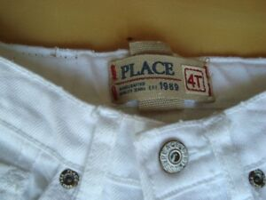 Childrens Place Girls White Jeans -Brand New Never Worn Spotless Kitchener / Waterloo Kitchener Area image 2