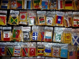 Mini Rear View Mirror Flags of all Countries