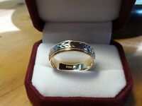 Men's 14k two tone wedding band