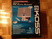 BRAND NEW KOSS MICRO CD AUDIO SYSTEM