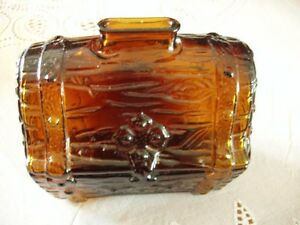 Brown Glass Pirate's Treasure Chest Bank