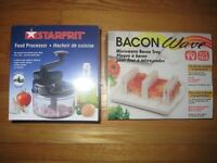 Food Processor and The Bacon Wave(microwave bacon tray)