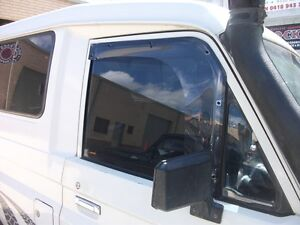 NEW WEATHERSHIELDS suit LANDCRUISER VDJ78 / 79 UTE PC   2007 ON WITH 1/4 GLASS