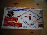 Hockey Challengs Trivia Board Games from 1986