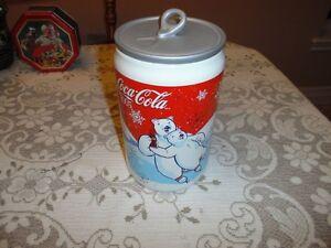 Coca Cola Ceramic Christmas Cookie Jar