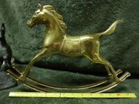 Vintage brass rocking horse,