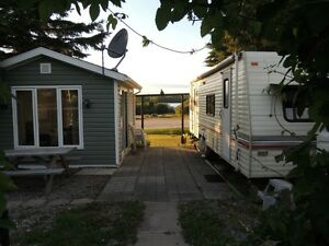 FOR RENT: LAKEFRONT TRAILER AND GAZEBO