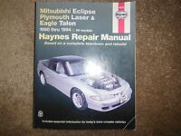 Mitsubishi Eclipse Plymouth Laser Eagle Talon 1990-1994 Manual