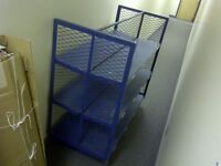 Heavy duty rolling cart with shelves