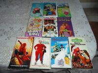 Selected VHS Children's Movies (SOME CHRISTMAS)