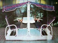 GARDEN GLIDER SWINGER Sunroom Solarium Indoor Pool Atrium—BOXED