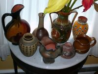 Lot de 4 superbes vases céramique, différents styles, formes,etc