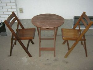 Chairs 2 Solid Walnut Wood Folding Chairs Dining