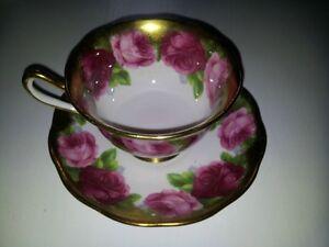 Royal Albert Old English Rose Tea Cup & Saucer c.1927
