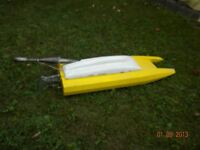 rc gas boat.