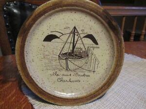 assiette POTERIE décorative céramique Ile aux Coudres Charlevoix