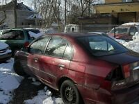 honda civic 2002 for body ur mechanical parts
